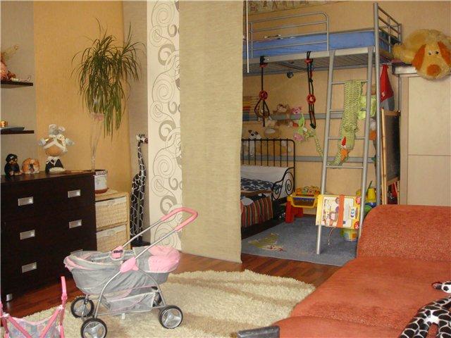 Меблировка уголка ребенка в однокомнатной квартире