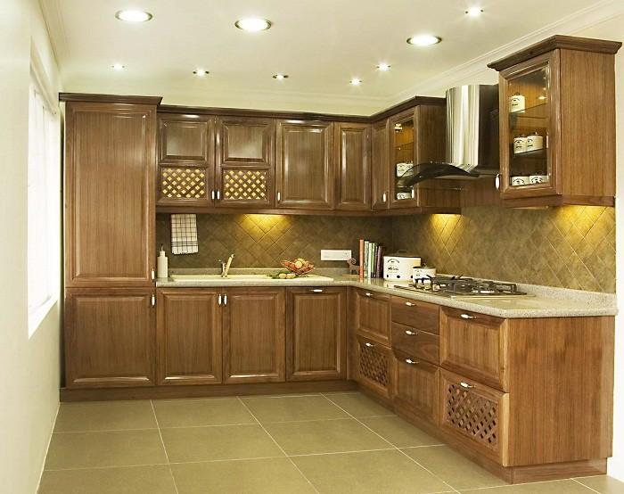 Меделировка кухни 9 кв. м. в классическом стиле