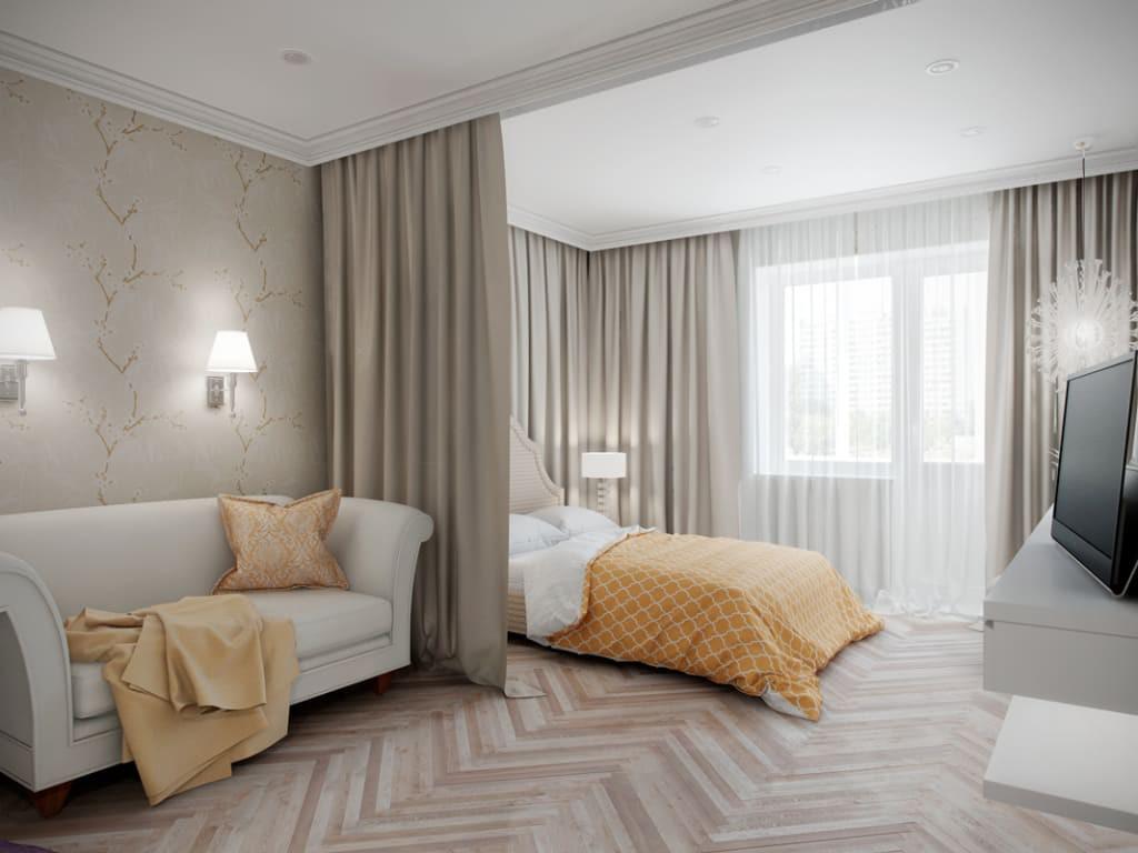 Место для отдыха в гостиной 20 кв.м