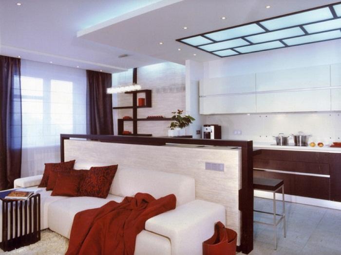 Место отдыха в совмещенной гостиной-кухне