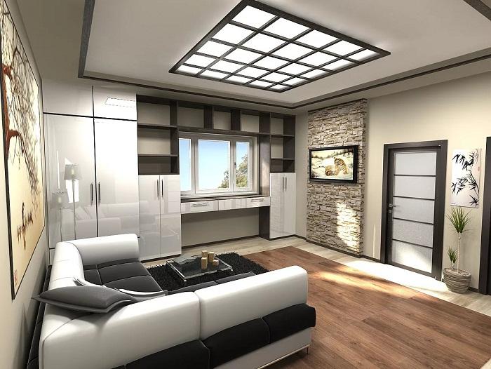 Минимализм в дизайне однокомнатной квартиры