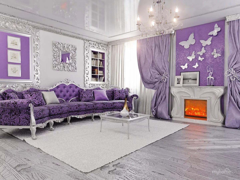 Мягкая мебель в гостиной под тон штор