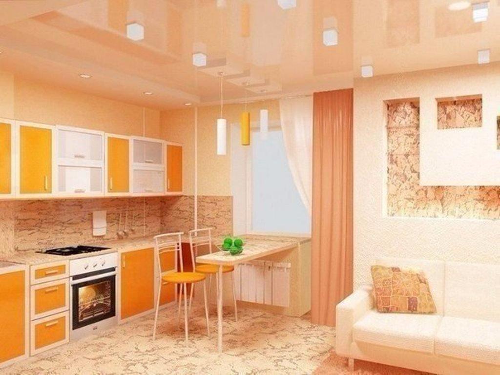 Ремонт кухни гостиной фото - interior.