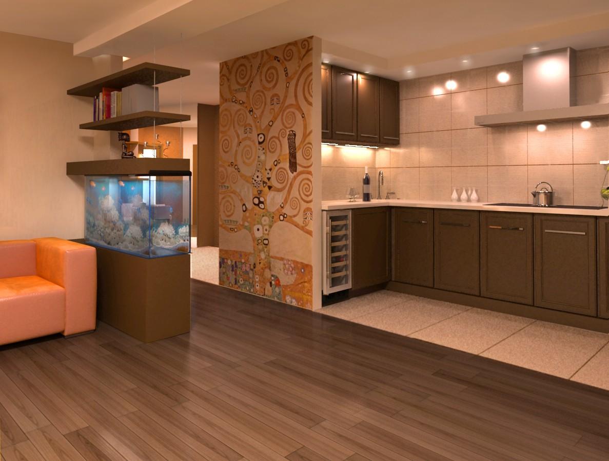 Напольное покрытие в кухонной зоне