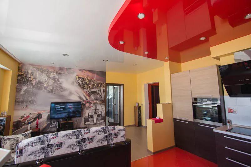 Натяжные потолки в квартире-студии 25 кв. м