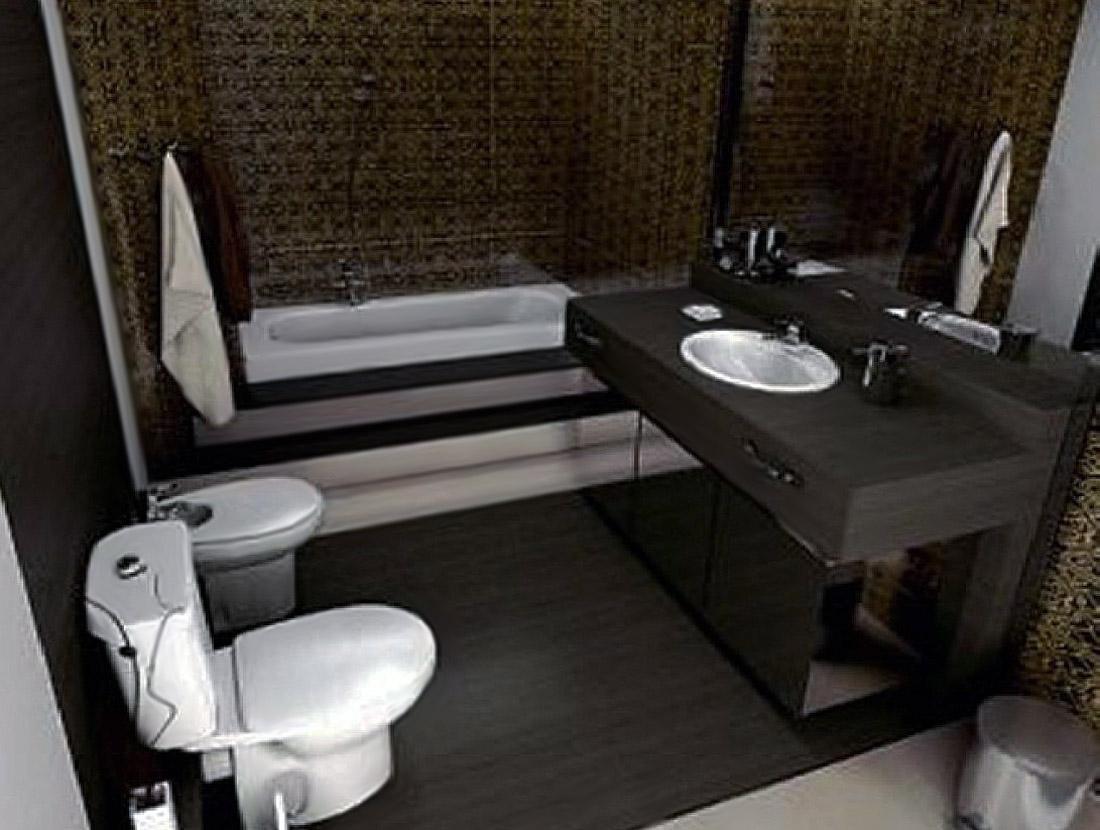 Неудачный дизайн интерьера ванной 4кв.м