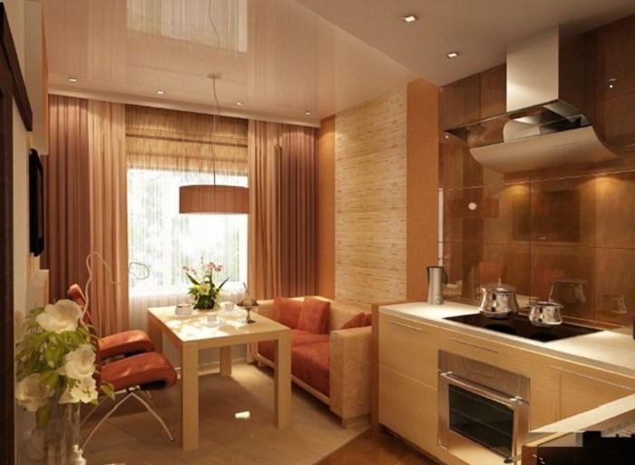 Обденная зона на кухне 12 кв.м.