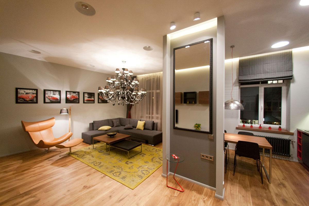 Объединение комнаты и кухни в однокомнатной квартире