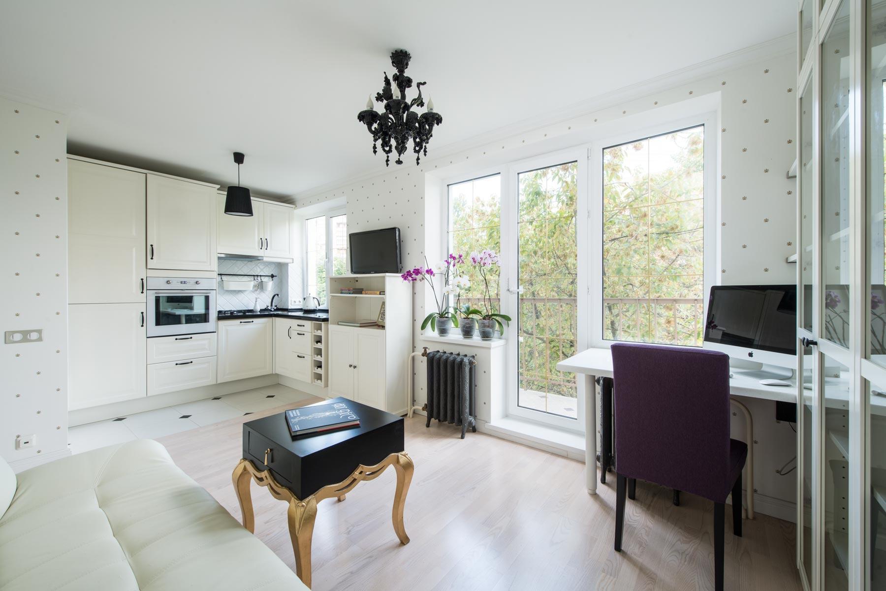 Объединение кухни и гостинной в двухкомнатной квартире