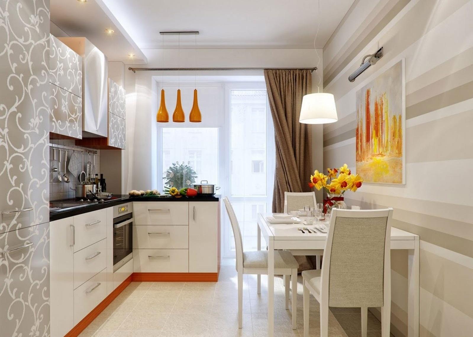 Объединение кухни 6 кв.м с балконом