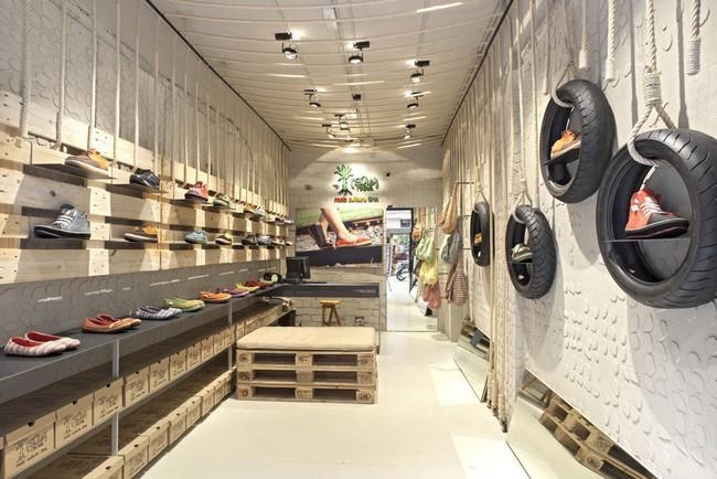 Оригинальный дизайн магазина обуви