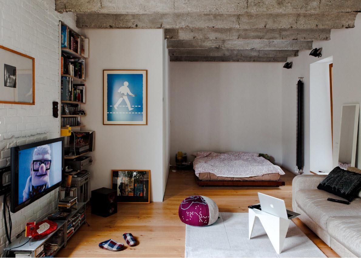 Оригинальный стиль оформления однокомнатной квартиры