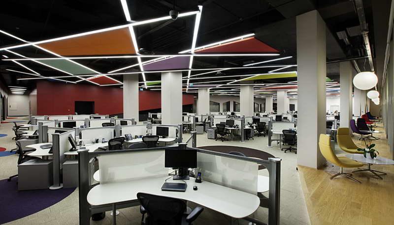 Освещение в интерьере офиса