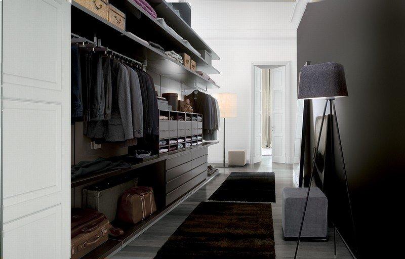 Освещение в мужской гардеробной