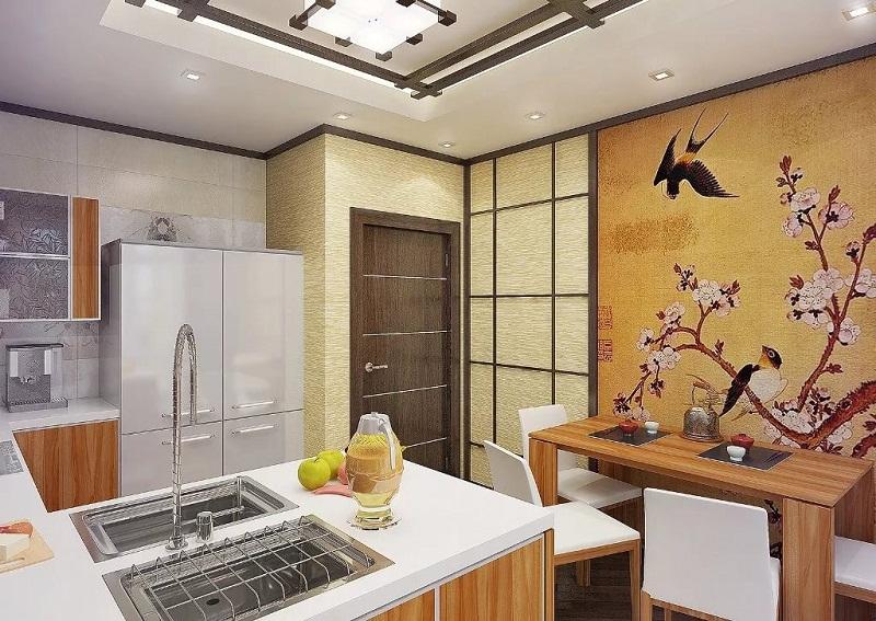 Освещение для кухни в японском стиле