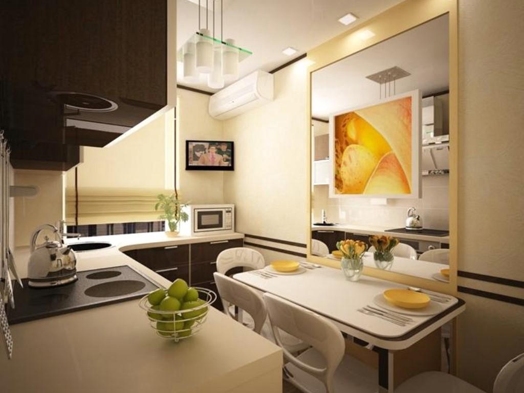 Освещение кухни в двухкомнатной квартире