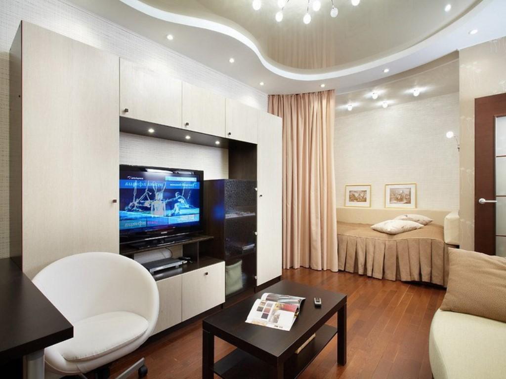 Остановка спальни в квартире-студии 25 кв. м
