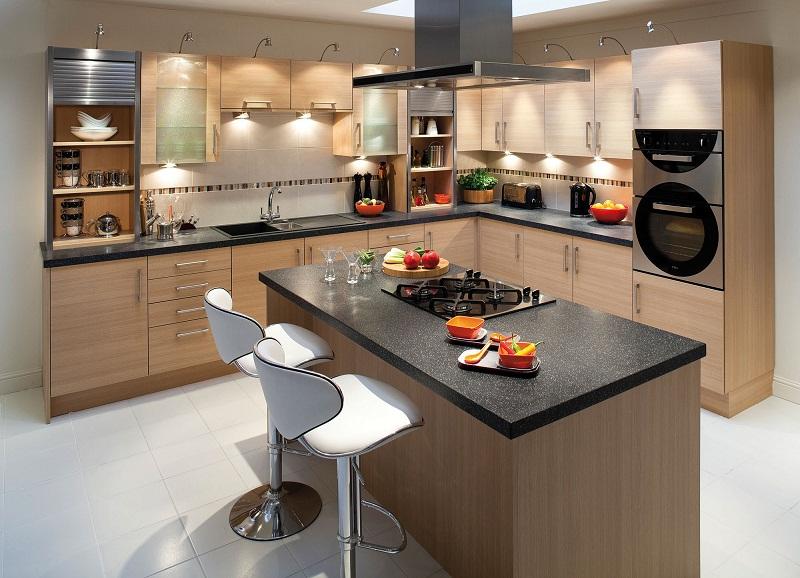 Островное размещение мебели на кухне