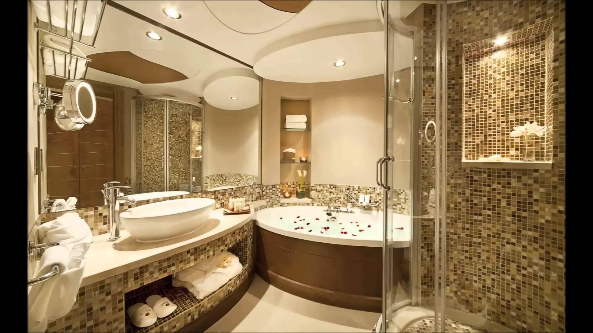 Отделка ванной комнаты мозайкой