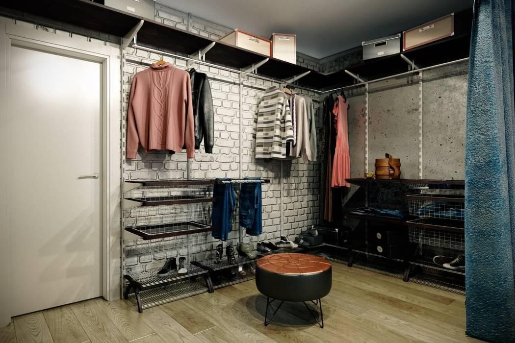 Отделка стен гардеробной под кирпичную кладку
