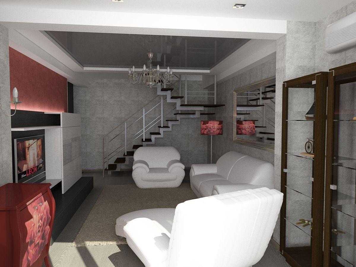 Оформление двухуровневой квартиры в стиле арт-деко