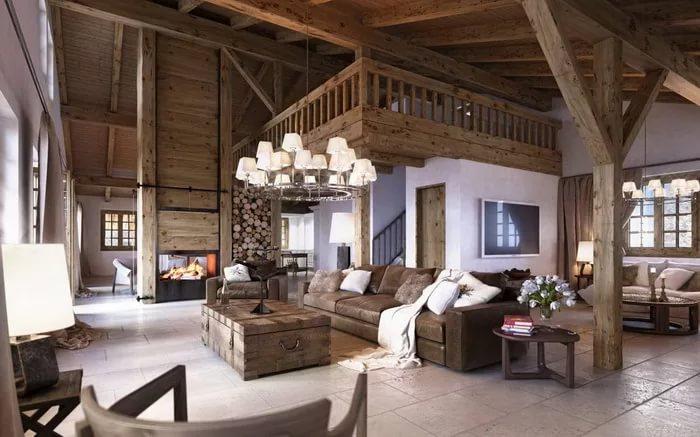 Оформление деревянного дома - шале