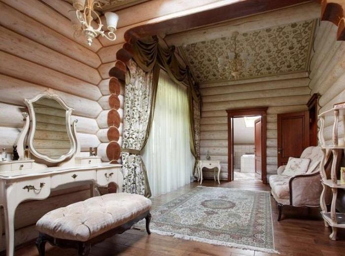 Оформление деревянного дома