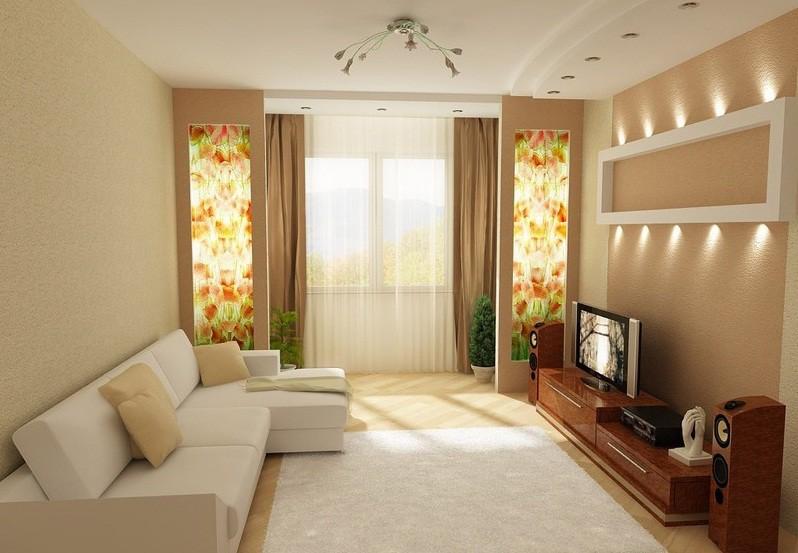 Оформление интерьера гостиной 18 кв.м в классическом стиле