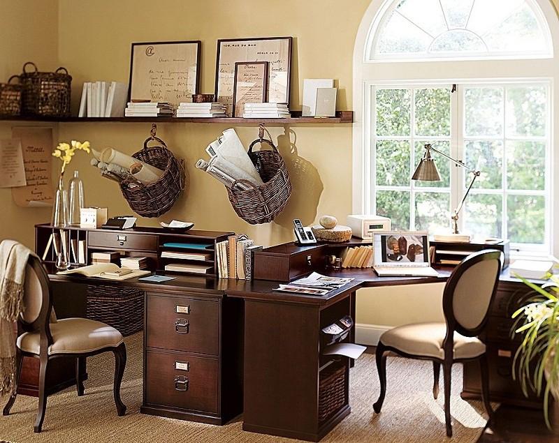 Оформление интерьера рабочего кабинета в доме