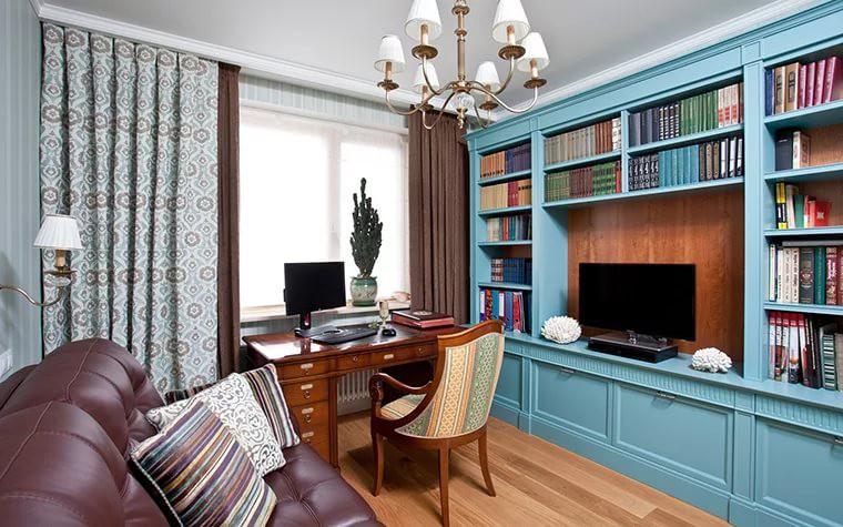 Оформление интерьера рабочей зоны в квартире
