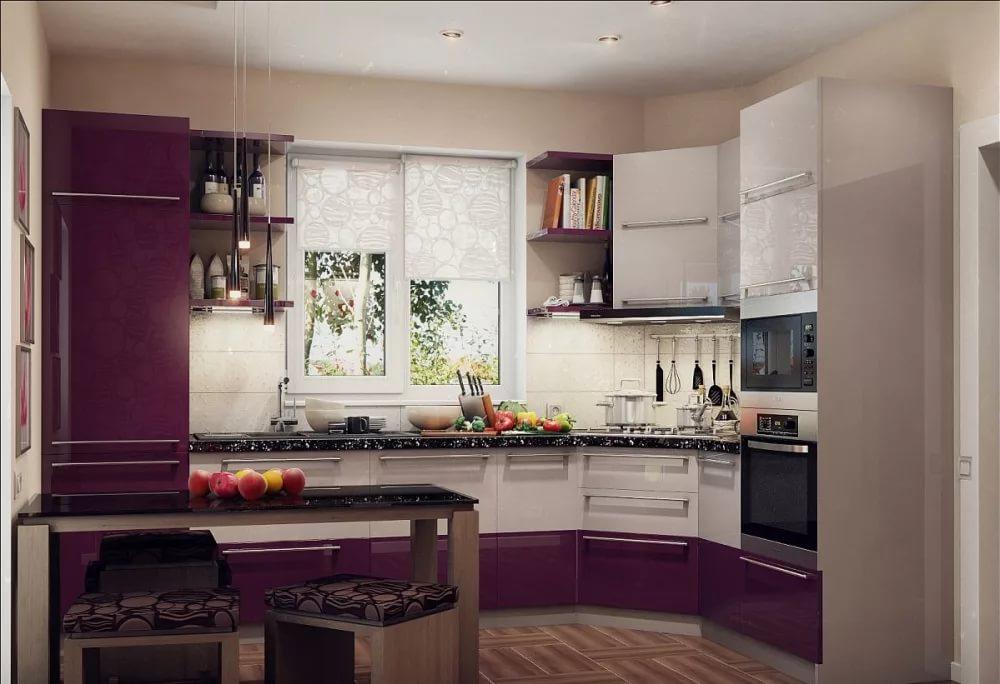 Оформление интерьера угловой кухни