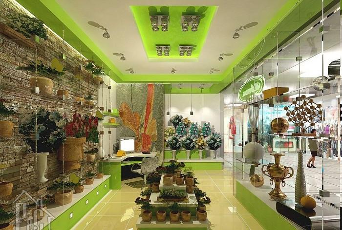 Оформление интерьера цветочного магазина