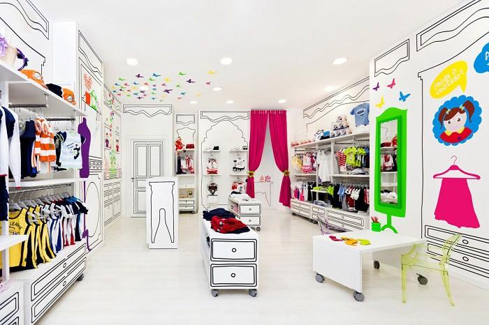 Оформление магазина детской одежды