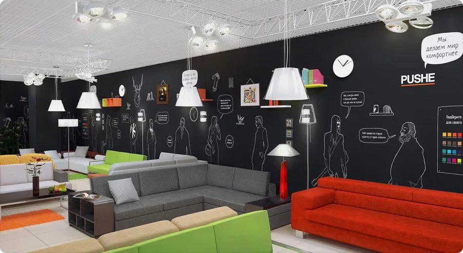 Оформление магазина мебели