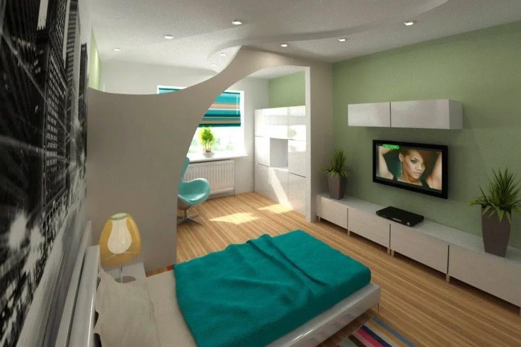 Оформление спальни в квартире в новостройке