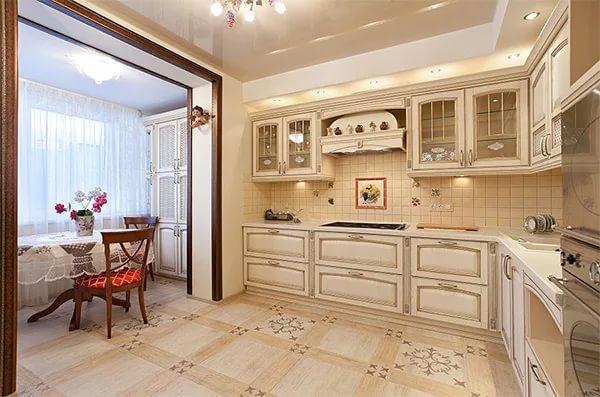 Перепланировка кухни объединенной с балконом