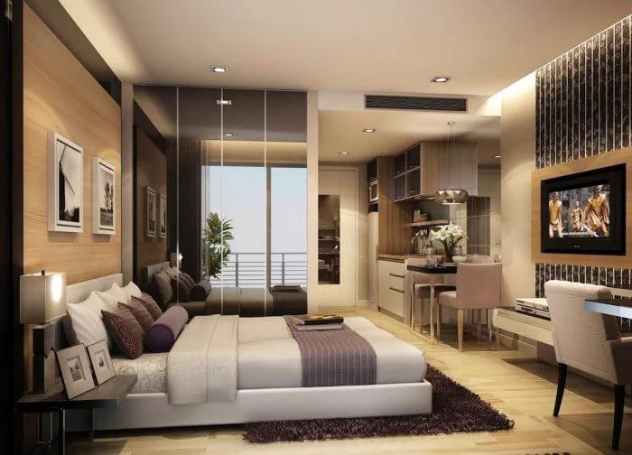 Планировка квартиры-студии 25 кв. м