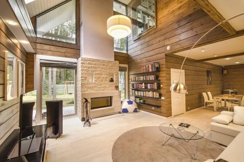 Планировка первого этажа деревянного дома