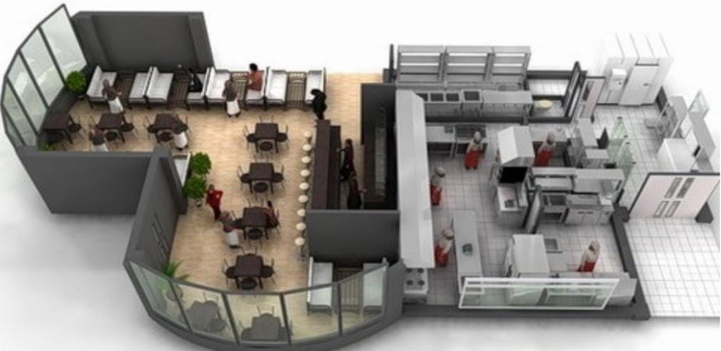 План схема кафе-бара