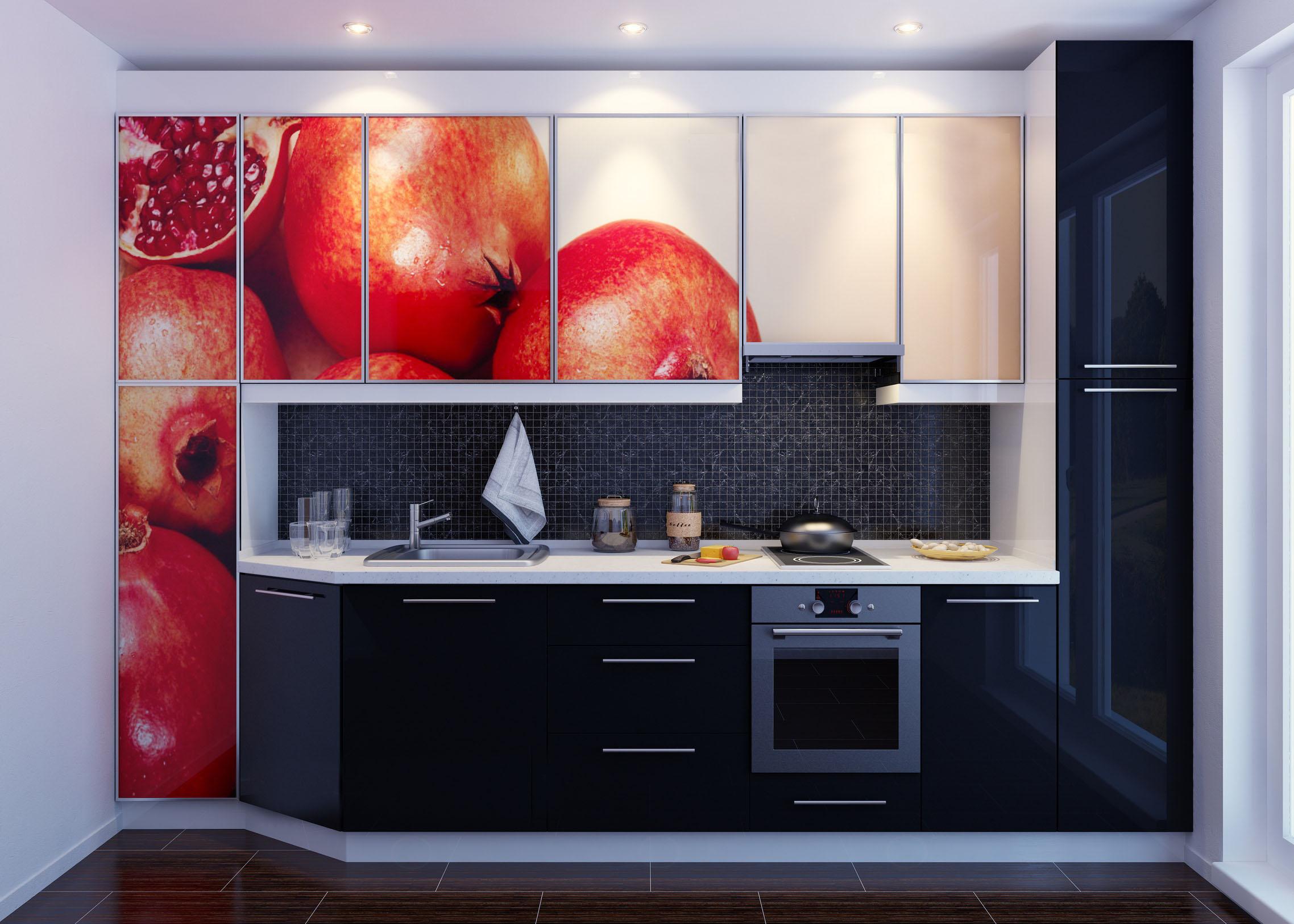 Пластиковый фасад кухонной мебели с 3D рисунком