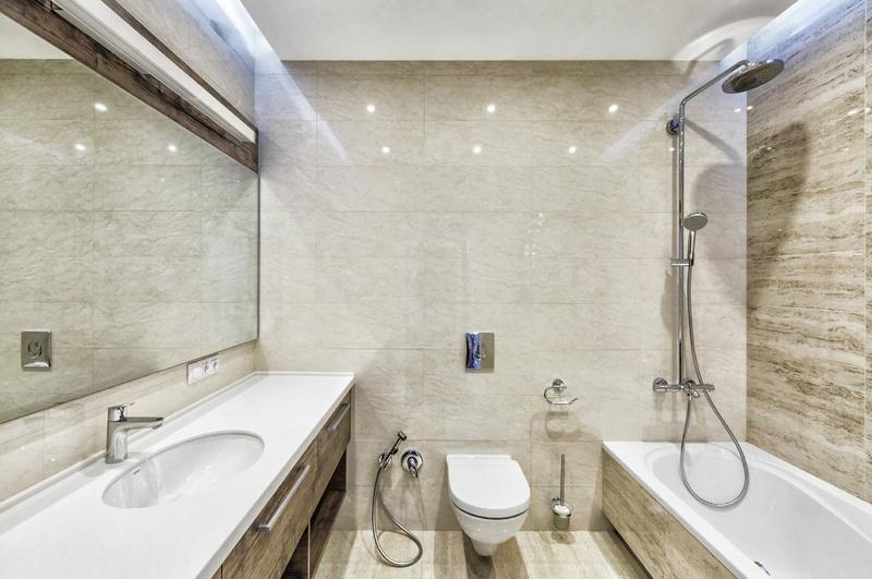 Потолочное освещение в ванной 4кв.м