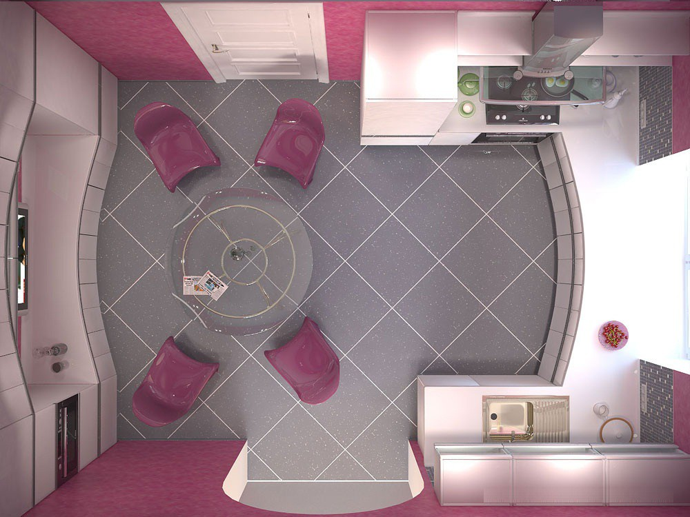 Пранировка кухни 12 кв.м.