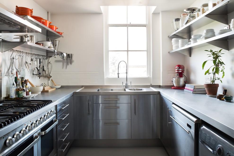 П-образное размещение мебели на кухне 12 кв.м.