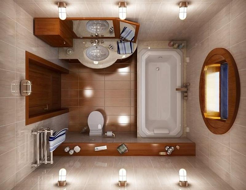 Размещение в маленькой ванной