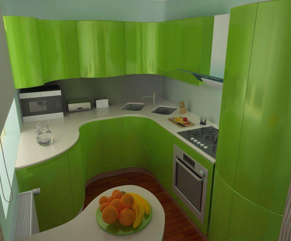 Размещение мебели на узкой кухне 6 кв.м.