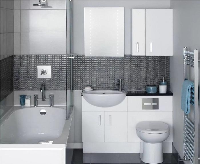 Размещение сантехники в маленькой ванной