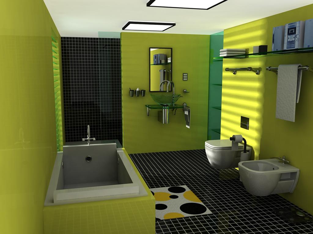 Размещение сантехники в совемещенном туалете с ванной