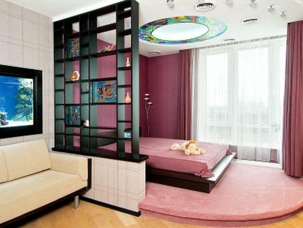 Размещение спальной зоны на подиуме в однокомнатной квартире