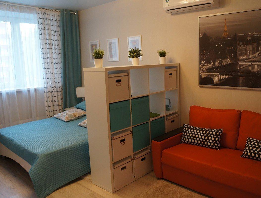 Разъединяющее зонирование однокомнатной квартиры