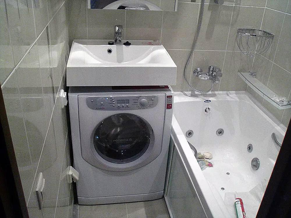 Раковины под стиральные машины в ванной 4кв.м